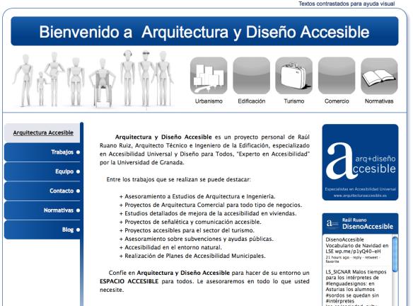 web arquitectura y diseño accesible