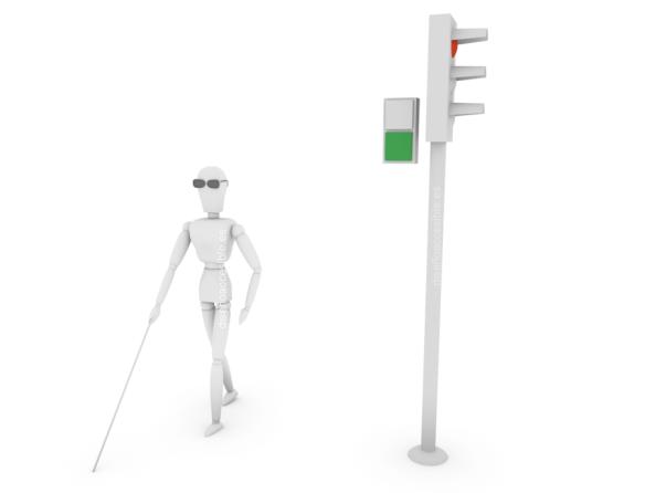 arquitectura y diseño accesible - semáforo